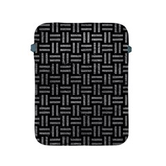 Woven1 Black Marble & Gray Leather Apple Ipad 2/3/4 Protective Soft Cases by trendistuff