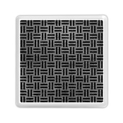 Woven1 Black Marble & Gray Leather (r) Memory Card Reader (square)  by trendistuff