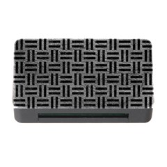 Woven1 Black Marble & Gray Leather (r) Memory Card Reader With Cf by trendistuff