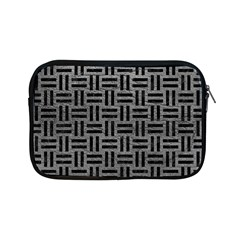 Woven1 Black Marble & Gray Leather (r) Apple Ipad Mini Zipper Cases by trendistuff