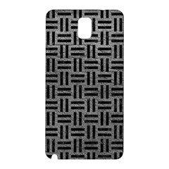 Woven1 Black Marble & Gray Leather (r) Samsung Galaxy Note 3 N9005 Hardshell Back Case by trendistuff