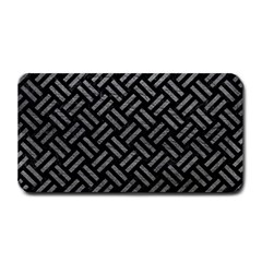 Woven2 Black Marble & Gray Leather Medium Bar Mats by trendistuff