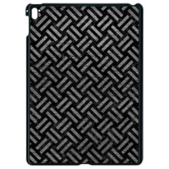 Woven2 Black Marble & Gray Leather Apple Ipad Pro 9 7   Black Seamless Case by trendistuff