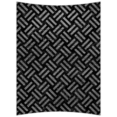 Woven2 Black Marble & Gray Leather Back Support Cushion