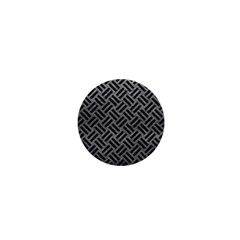 Woven2 Black Marble & Gray Leather (r) 1  Mini Buttons by trendistuff