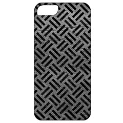 Woven2 Black Marble & Gray Leather (r) Apple Iphone 5 Classic Hardshell Case by trendistuff