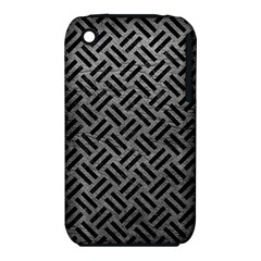 Woven2 Black Marble & Gray Leather (r) Iphone 3s/3gs