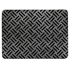 Woven2 Black Marble & Gray Leather (r) Samsung Galaxy Tab 7  P1000 Flip Case by trendistuff