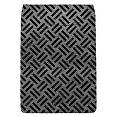 Woven2 Black Marble & Gray Leather (r) Flap Covers (s)  by trendistuff