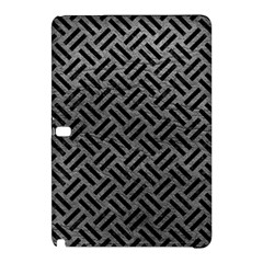 Woven2 Black Marble & Gray Leather (r) Samsung Galaxy Tab Pro 12 2 Hardshell Case by trendistuff