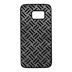 Woven2 Black Marble & Gray Leather (r) Samsung Galaxy S7 Black Seamless Case