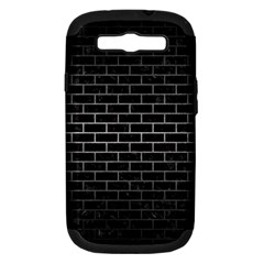 Brick1 Black Marble & Gray Metal 1 Samsung Galaxy S Iii Hardshell Case (pc+silicone) by trendistuff