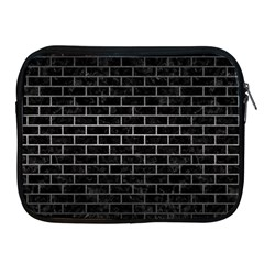 Brick1 Black Marble & Gray Metal 1 Apple Ipad 2/3/4 Zipper Cases by trendistuff
