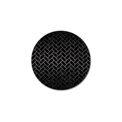 Brick2 Black Marble & Gray Metal 1 Golf Ball Marker (10 Pack) by trendistuff