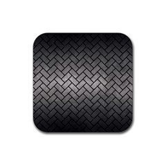 Brick2 Black Marble & Gray Metal 1 (r) Rubber Square Coaster (4 Pack)  by trendistuff
