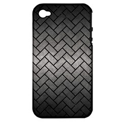 Brick2 Black Marble & Gray Metal 1 (r) Apple Iphone 4/4s Hardshell Case (pc+silicone) by trendistuff