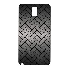 Brick2 Black Marble & Gray Metal 1 (r) Samsung Galaxy Note 3 N9005 Hardshell Back Case by trendistuff
