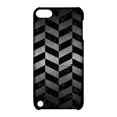 Chevron1 Black Marble & Gray Metal 1 Apple Ipod Touch 5 Hardshell Case With Stand by trendistuff