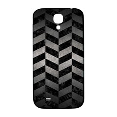 Chevron1 Black Marble & Gray Metal 1 Samsung Galaxy S4 I9500/i9505  Hardshell Back Case by trendistuff
