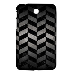 Chevron1 Black Marble & Gray Metal 1 Samsung Galaxy Tab 3 (7 ) P3200 Hardshell Case  by trendistuff