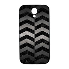 Chevron2 Black Marble & Gray Metal 1 Samsung Galaxy S4 I9500/i9505  Hardshell Back Case by trendistuff