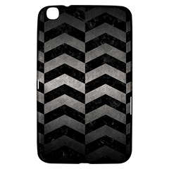 Chevron2 Black Marble & Gray Metal 1 Samsung Galaxy Tab 3 (8 ) T3100 Hardshell Case  by trendistuff