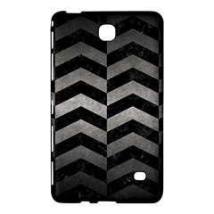 Chevron2 Black Marble & Gray Metal 1 Samsung Galaxy Tab 4 (7 ) Hardshell Case  by trendistuff