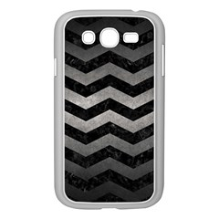 Chevron3 Black Marble & Gray Metal 1 Samsung Galaxy Grand Duos I9082 Case (white) by trendistuff