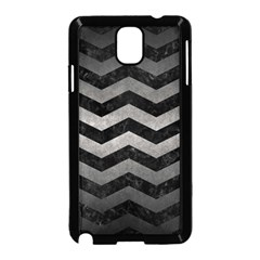 Chevron3 Black Marble & Gray Metal 1 Samsung Galaxy Note 3 Neo Hardshell Case (black) by trendistuff