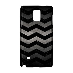Chevron3 Black Marble & Gray Metal 1 Samsung Galaxy Note 4 Hardshell Case by trendistuff