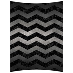 Chevron3 Black Marble & Gray Metal 1 Back Support Cushion by trendistuff