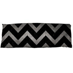 Chevron9 Black Marble & Gray Metal 1 Body Pillow Case Dakimakura (two Sides) by trendistuff