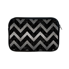 Chevron9 Black Marble & Gray Metal 1 Apple Ipad Mini Zipper Cases