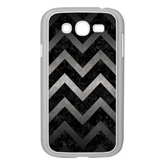 Chevron9 Black Marble & Gray Metal 1 Samsung Galaxy Grand Duos I9082 Case (white) by trendistuff