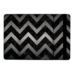 Chevron9 Black Marble & Gray Metal 1 Samsung Galaxy Tab Pro 10 1  Flip Case by trendistuff