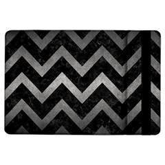 Chevron9 Black Marble & Gray Metal 1 Ipad Air Flip by trendistuff