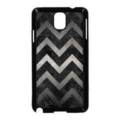 Chevron9 Black Marble & Gray Metal 1 Samsung Galaxy Note 3 Neo Hardshell Case (black) by trendistuff