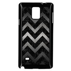 Chevron9 Black Marble & Gray Metal 1 Samsung Galaxy Note 4 Case (black) by trendistuff