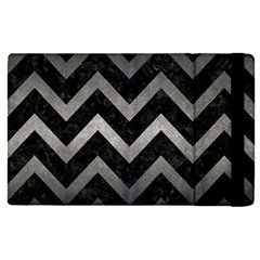Chevron9 Black Marble & Gray Metal 1 Apple Ipad Pro 12 9   Flip Case by trendistuff