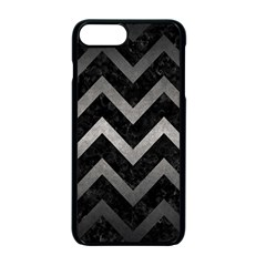Chevron9 Black Marble & Gray Metal 1 Apple Iphone 7 Plus Seamless Case (black) by trendistuff