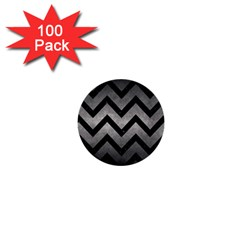 Chevron9 Black Marble & Gray Metal 1 (r) 1  Mini Buttons (100 Pack)  by trendistuff