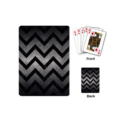 Chevron9 Black Marble & Gray Metal 1 (r) Playing Cards (mini)  by trendistuff