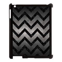Chevron9 Black Marble & Gray Metal 1 (r) Apple Ipad 3/4 Case (black) by trendistuff