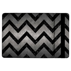 Chevron9 Black Marble & Gray Metal 1 (r) Ipad Air Flip by trendistuff