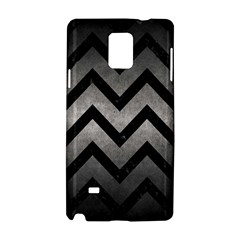 Chevron9 Black Marble & Gray Metal 1 (r) Samsung Galaxy Note 4 Hardshell Case by trendistuff