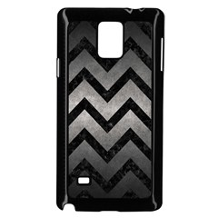 Chevron9 Black Marble & Gray Metal 1 (r) Samsung Galaxy Note 4 Case (black) by trendistuff