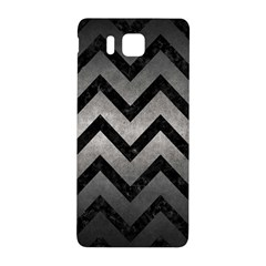 Chevron9 Black Marble & Gray Metal 1 (r) Samsung Galaxy Alpha Hardshell Back Case by trendistuff