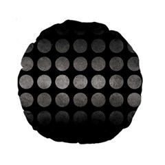 Circles1 Black Marble & Gray Metal 1 Standard 15  Premium Round Cushions by trendistuff
