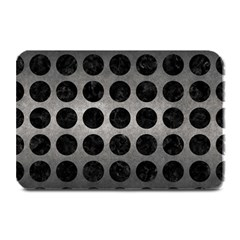 Circles1 Black Marble & Gray Metal 1 (r) Plate Mats by trendistuff