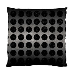 Circles1 Black Marble & Gray Metal 1 (r) Standard Cushion Case (one Side) by trendistuff